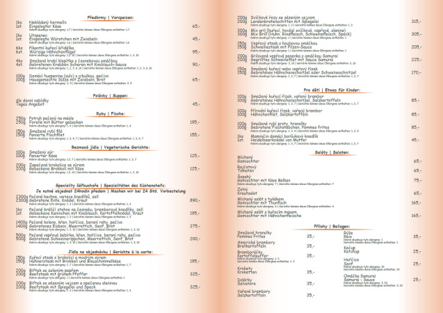 Jídelní lístek str.2,3